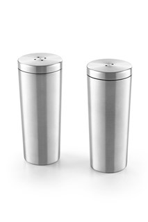 ZACK - OVETA - Stainless steel saltcellar and pepper pot